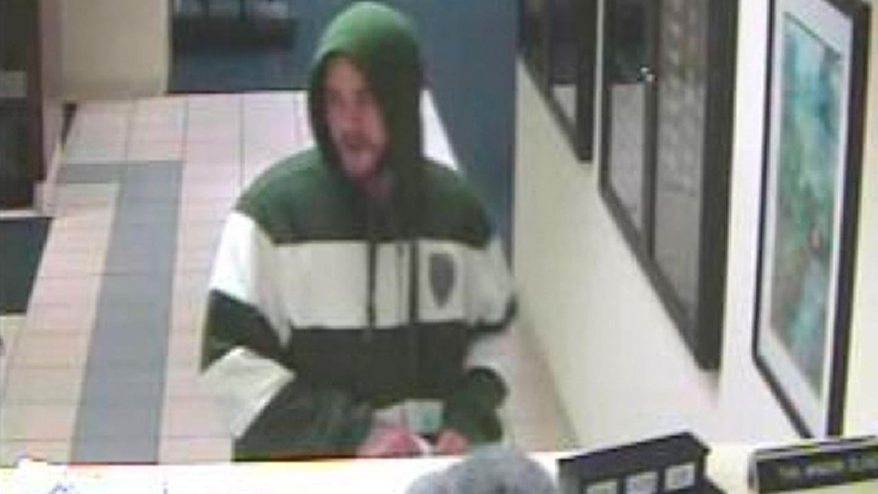 Investigators said the unidentified suspect robbed the State Employees Credit Union on Old Honeycutt Road around 5 p.m.
