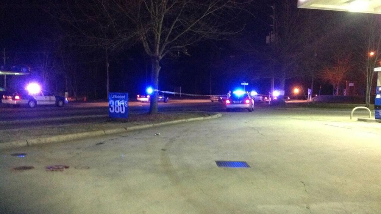 A pedestrian was hit by car at the intersection of Rock Quarry and Lyndhurst Roads