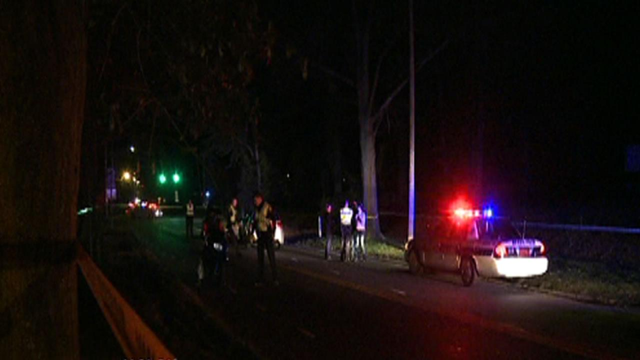 A pedestrian was struck and killed Sunday evening just after 9 p.m. while walking along University Drive