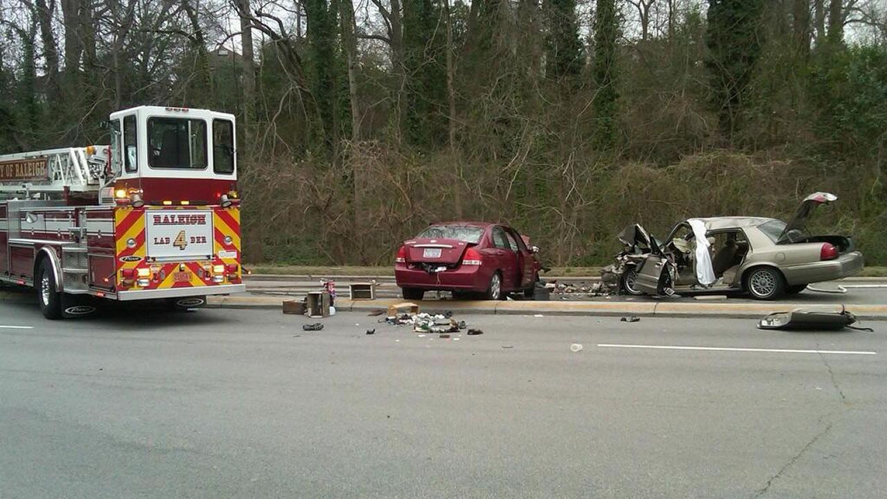 Two killed in Raleigh wrong-way accident
