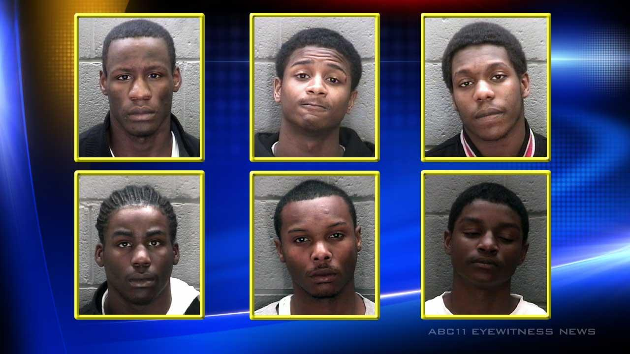 19-year-old Markelius Leon Chambers, 18-year-old Kevin Felix Romain, 17-year-old Travis Jamar Pope, 19-year-old Dominick Jermaine Parker, 18-year-old Jaquaan Raqueze Harris, and 17-year-old Nykeem Tayquan Odom
