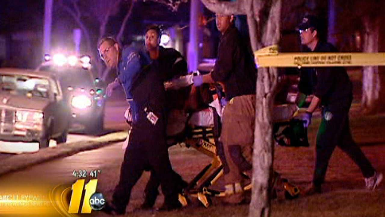 Authorities investigating shooting that happened around 1:30 a.m. Thursday at the Washington Terrace Apartments on Hill Street, across the street from Saint Augustines Universitys campus in Raleigh.