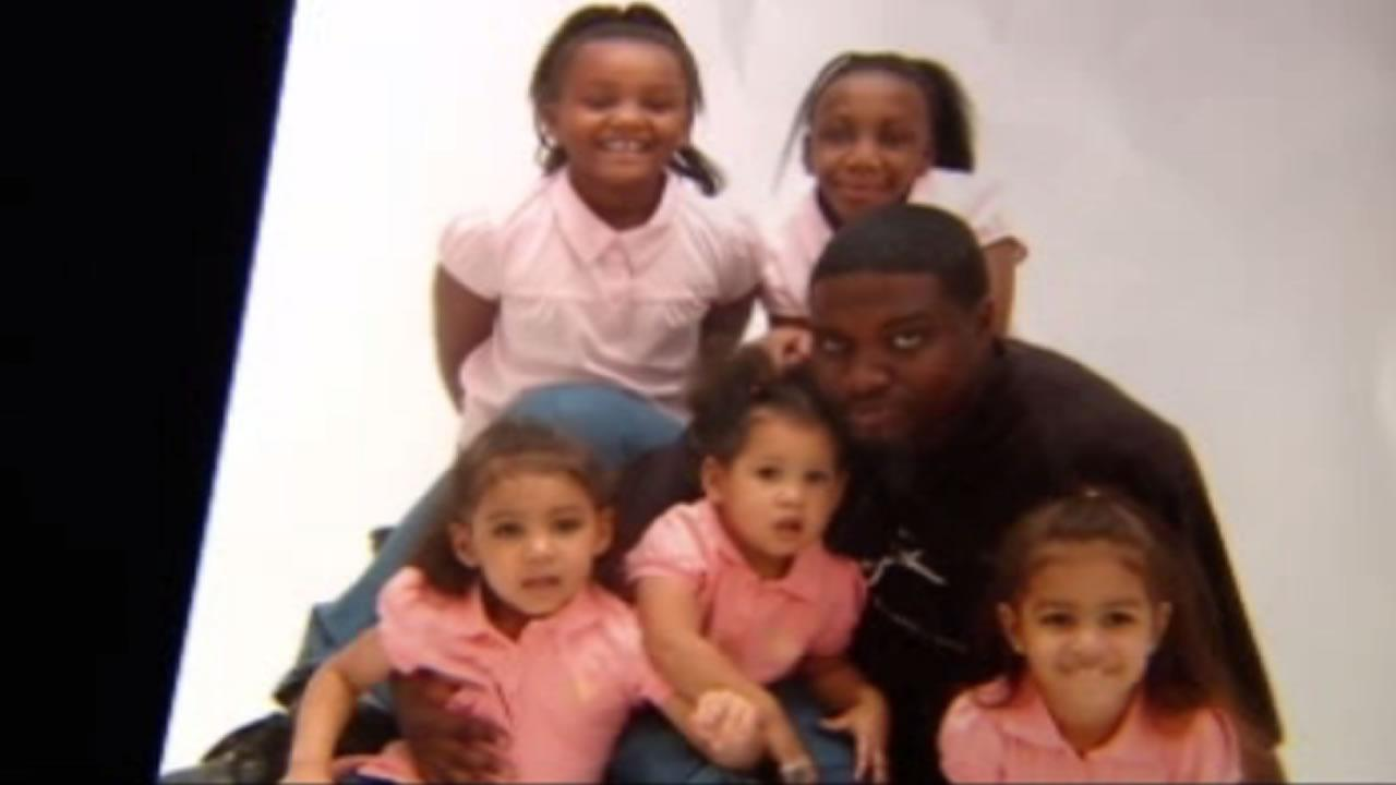 Smithfield shooting victim Lucas Benton with five of his six children