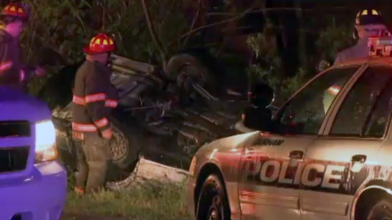 A driver is in the hospital with serious injuries after flipping his car while fleeing from a Durham police officer Friday morning.
