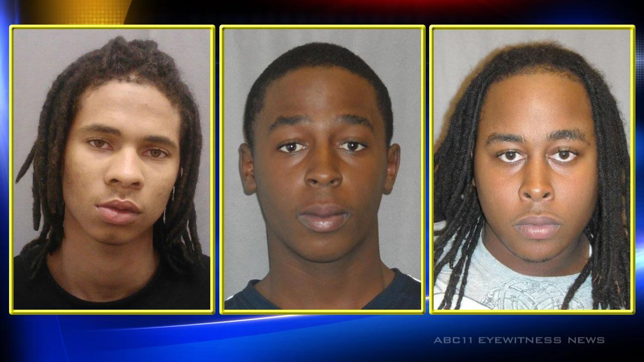 Corey Cheek Jr, 17, of 315 Davis Street, Ramek Holden, 18, of 198 Cone Lane, and Gary Treshon Holden, 21, of 251 Ragland Lane