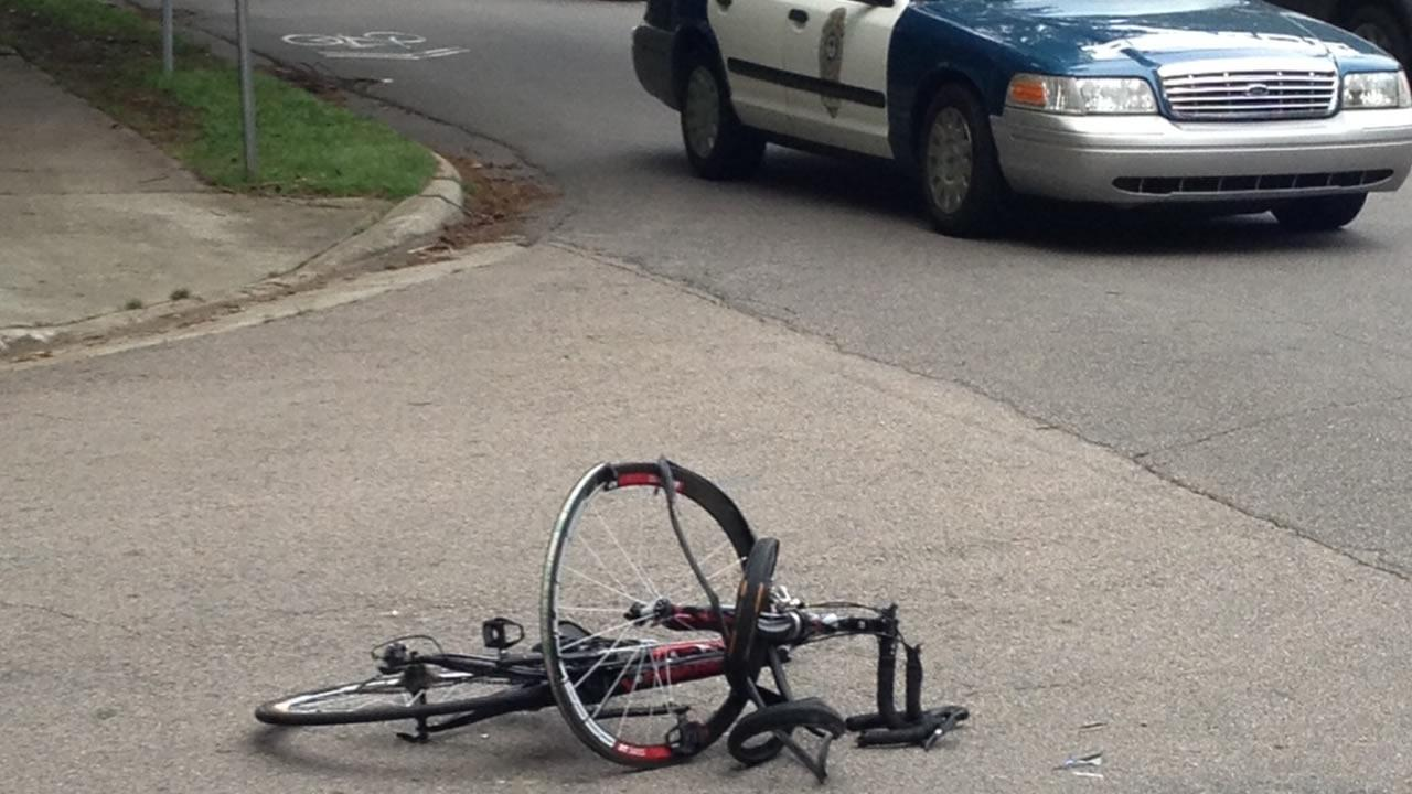 Police investigate after cyclist Christopher Mangum was killed in Raleigh.