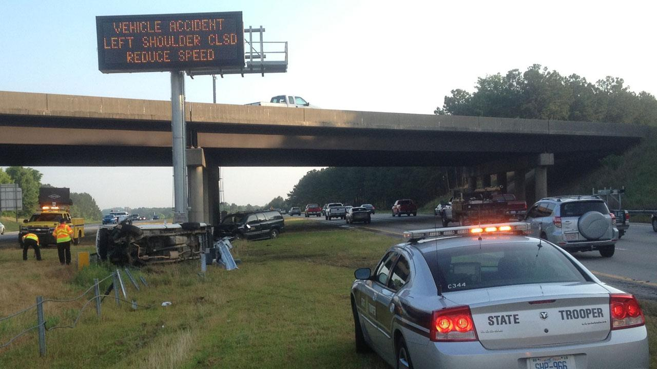 Two separate accidents caused major delays along I-40 West near Jones Sausage Road in Raleigh Tuesday morning