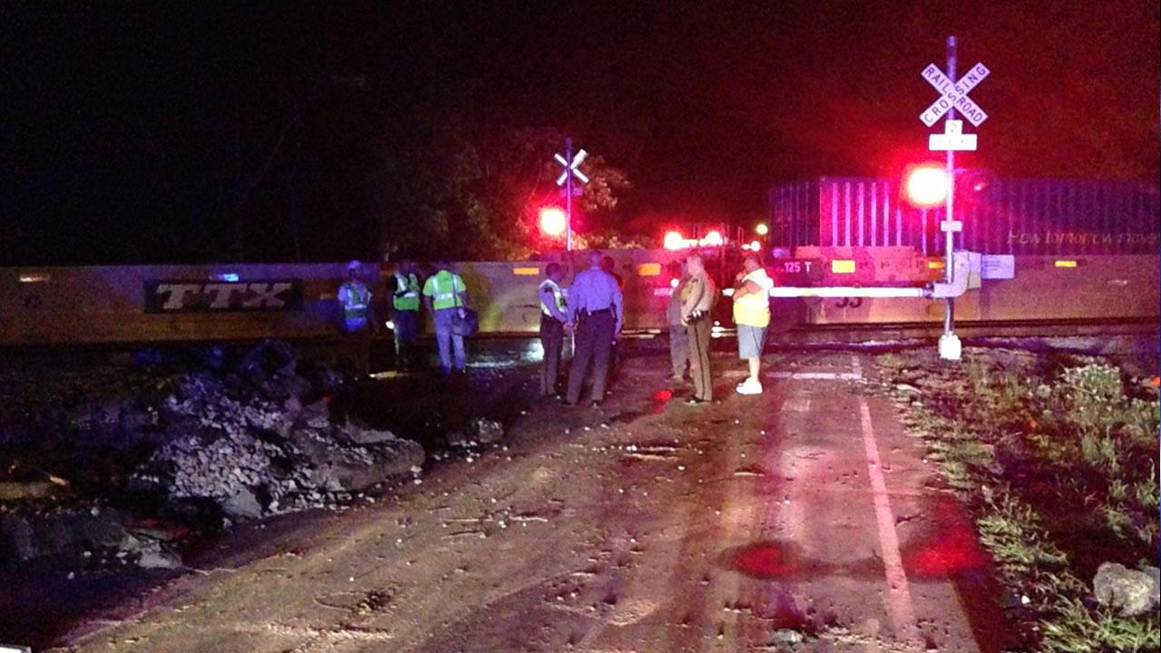 One person was killed after a train collided with a truck in Dunn