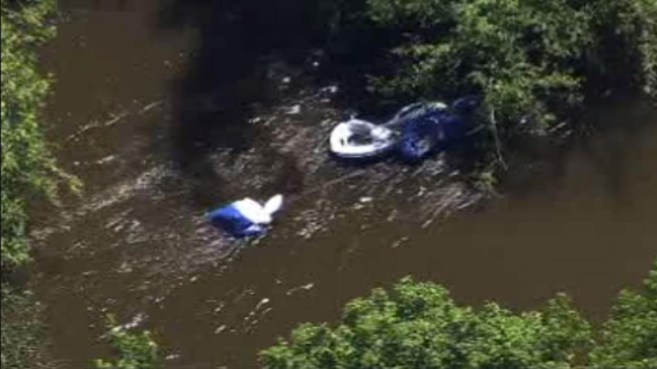 Five people were rescued from the Neuse River in Raleigh Friday afternoon