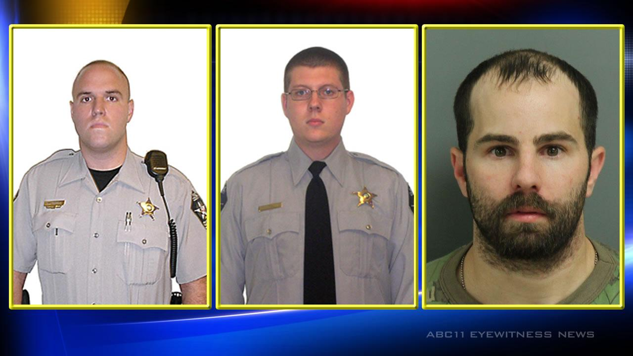 Pictured from left: Deputy Ricky Spivey, Deputy Casey Miller, and Michael Joseph Morgan