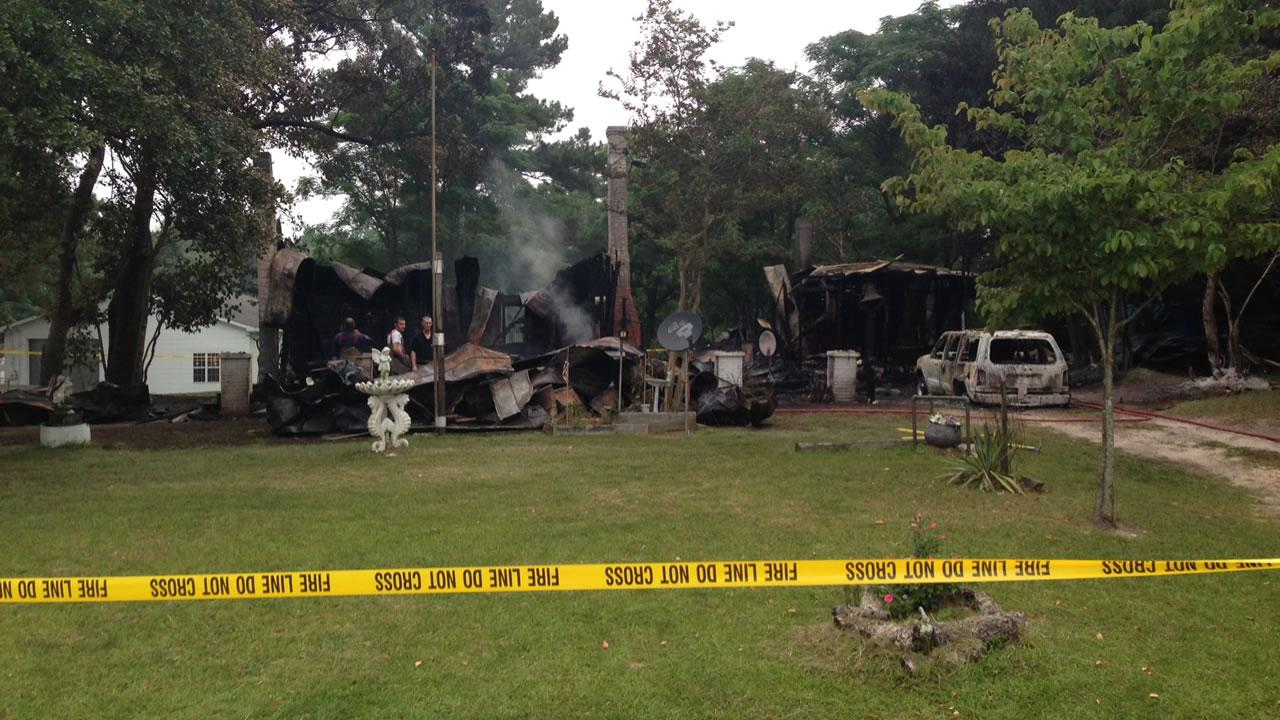 An elderly couple was killed in the fire along County Line Road near Angier, according to the Johnston County Sheriffs Office.