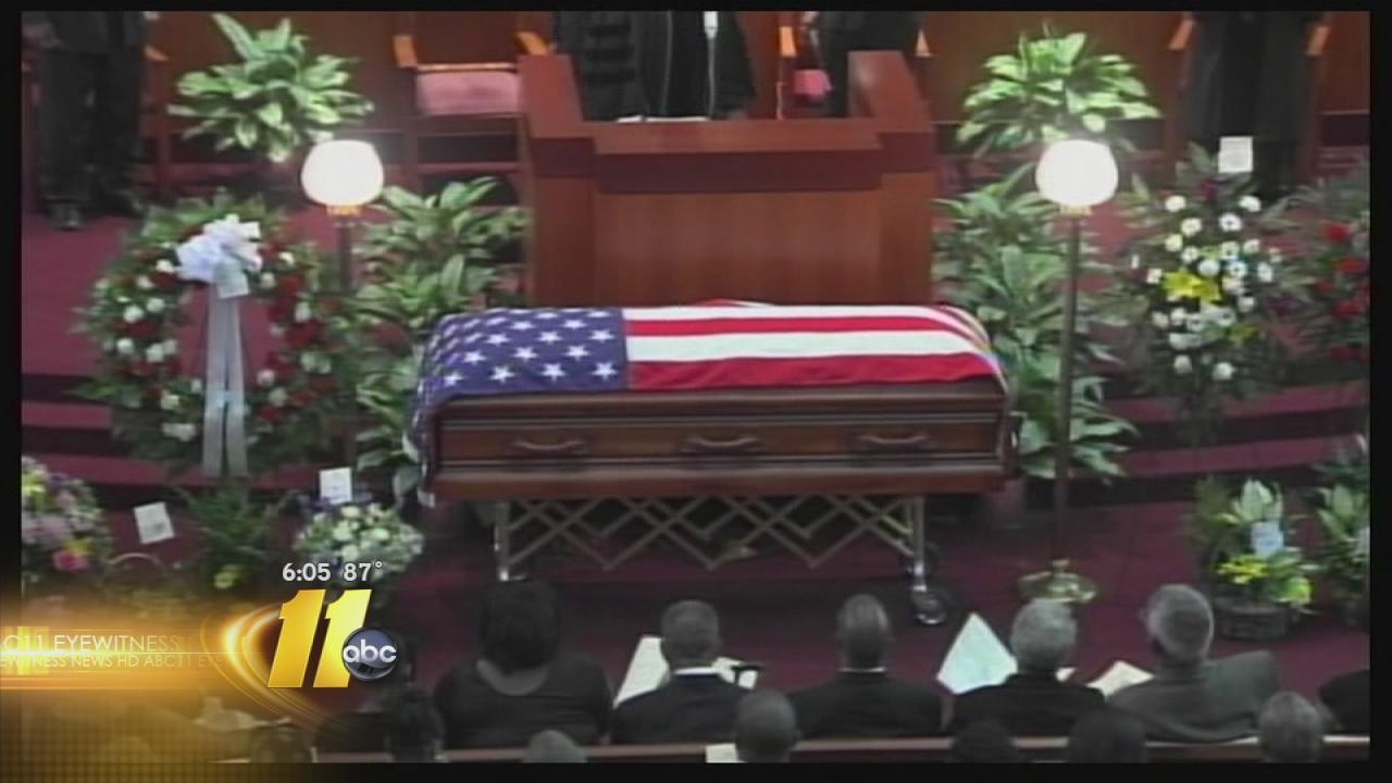 Julius Chambers casket