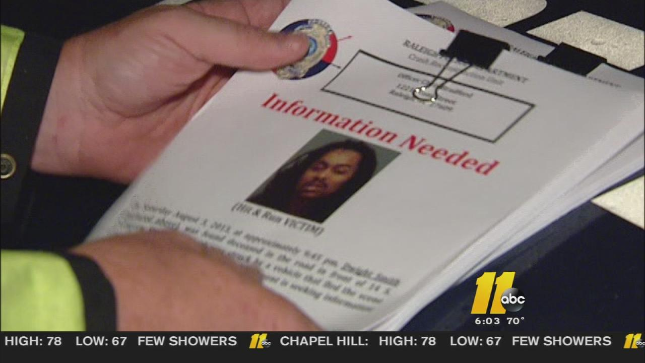 Police handed out flyers in hopes of getting more information in a deadly hit-and-run