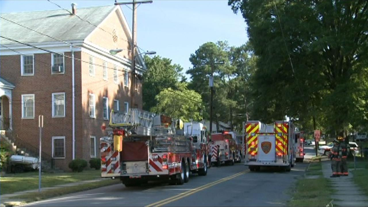 Crews responded to a fire at United Antioch Baptist