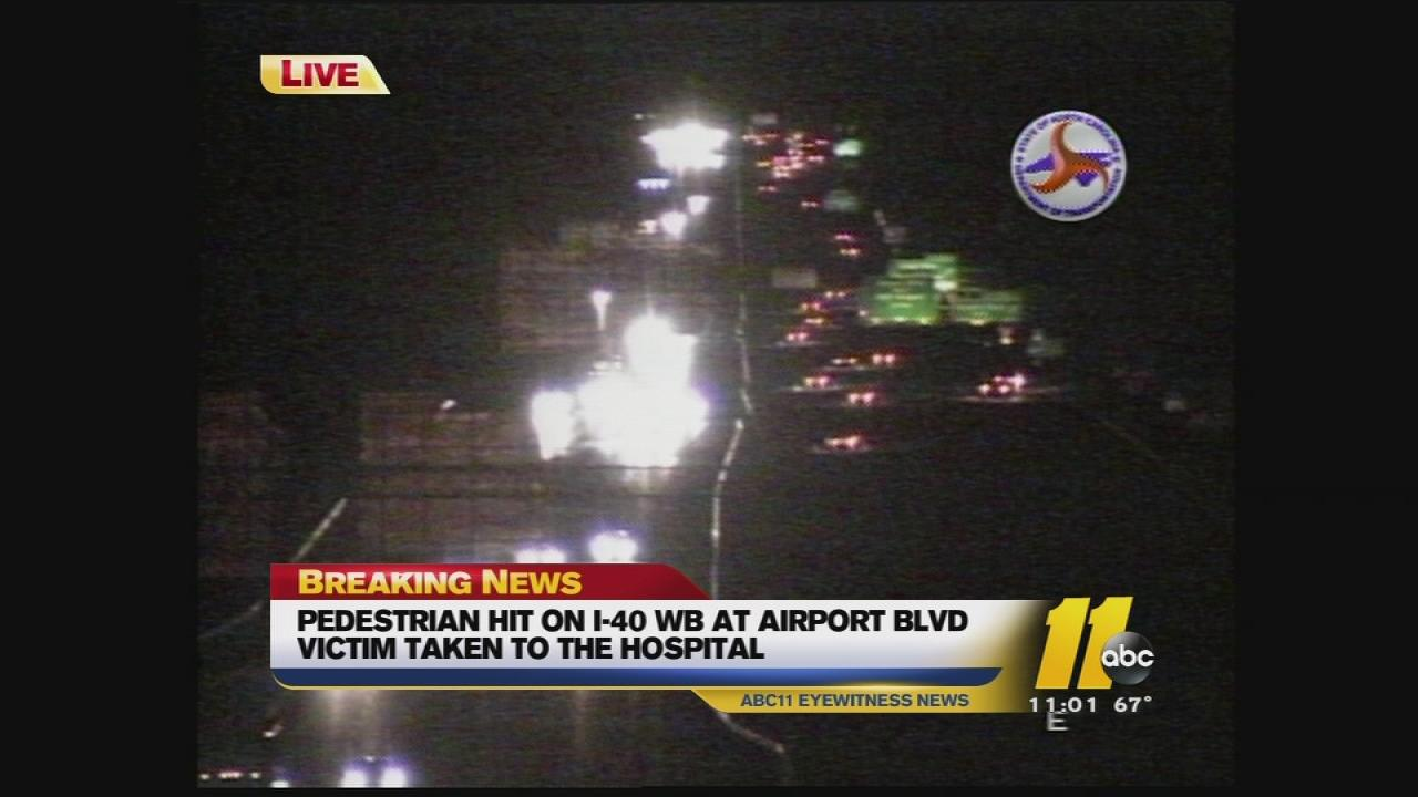 pedestrian accident on I-40.