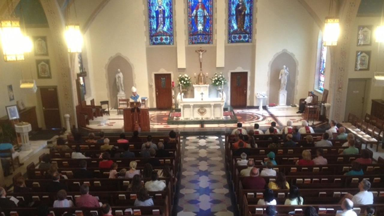 Bishop Michael Burbidge celebrated a Mass for Peace on Saturday at Sacred Heart Cathedral in Raleigh
