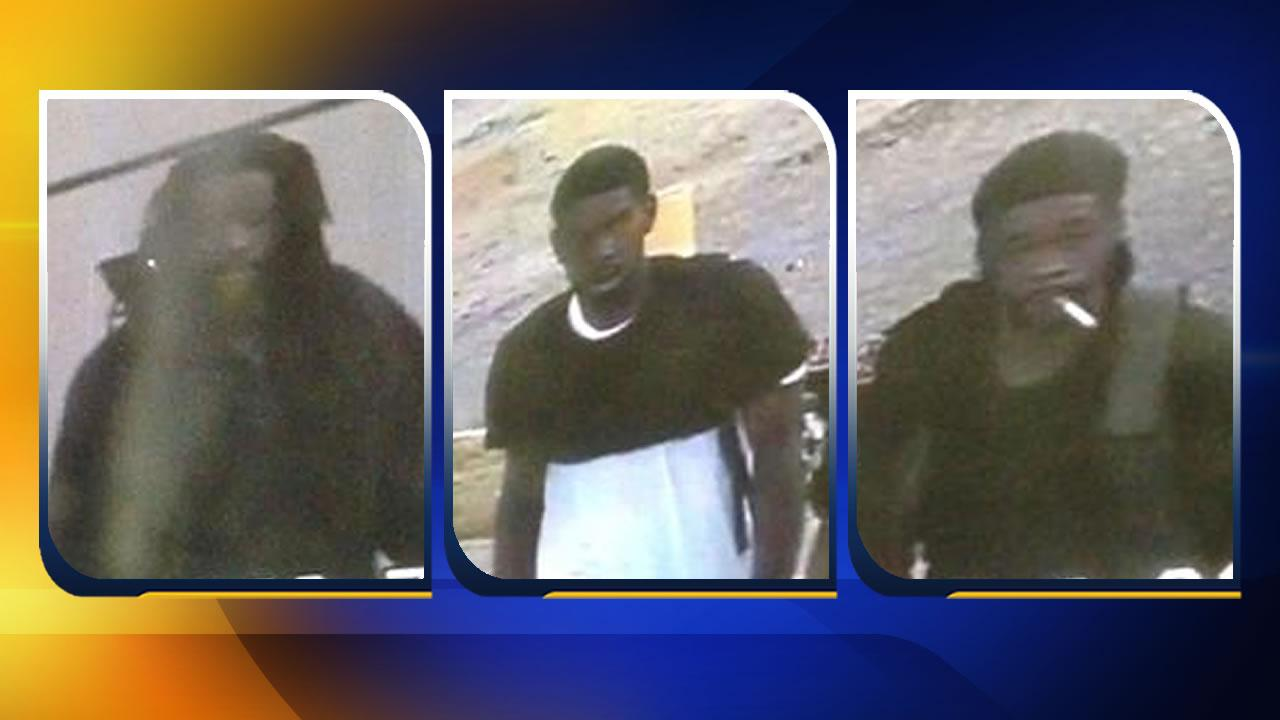 Police are searching for three suspects who broke into a Fayetteville store last weekend