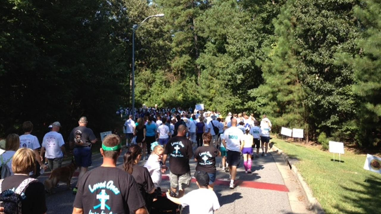 The 11th Annual Gail Parkins Memorial Ovarian Cancer Walk and 5K Run at Sanderson High School in Raleigh