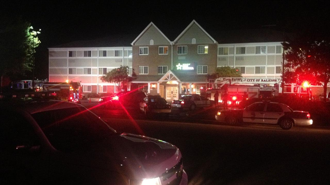 Authorities say a man was arrested after getting in to a fight with another resident at an Extended Stay in Raleigh.