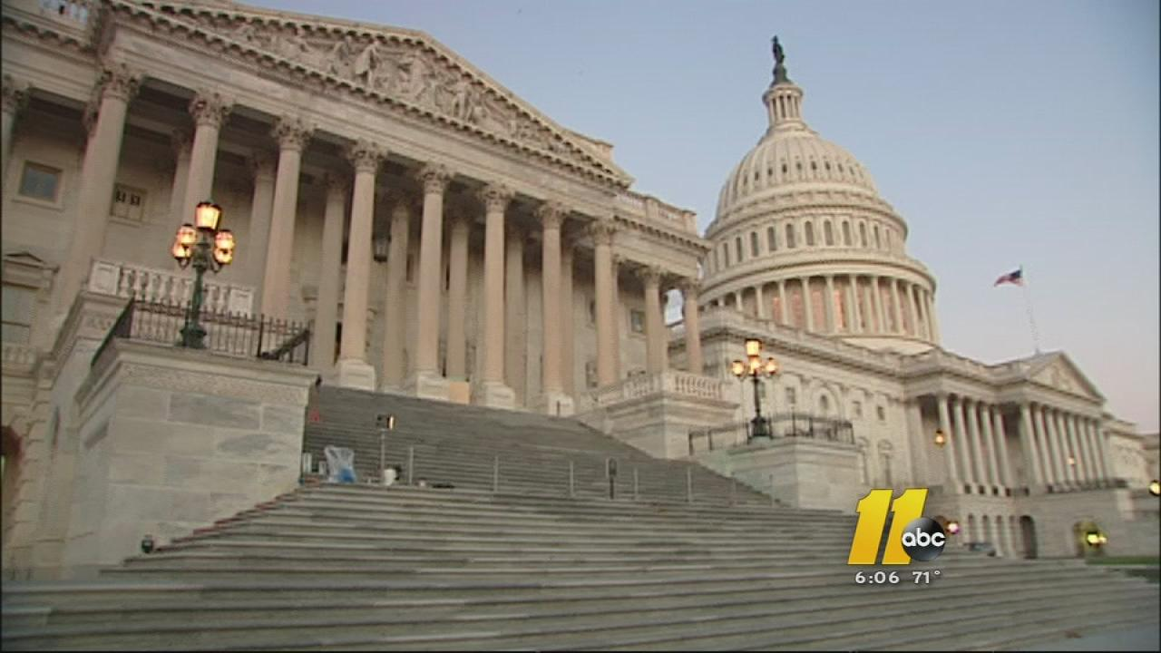 An exterior shot of the U.S. Capitol in Washington.