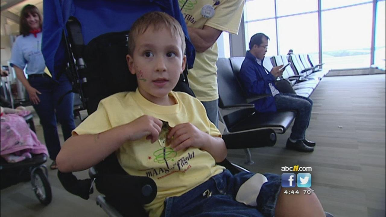 Four-year-old Teddys dream has come true -- he and his family are headed to Disney World thanks to American Airlines Something mAAgic Foundation