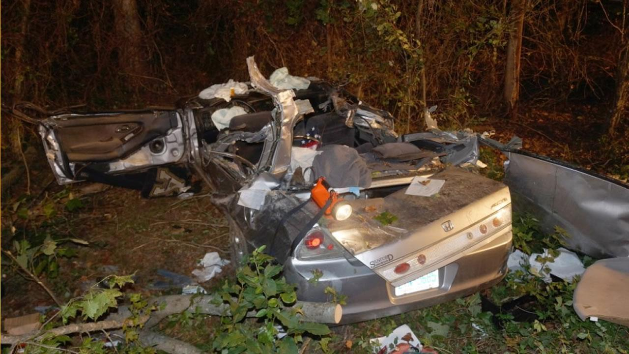 The driver, identified as 22-year-old Kaleb Rierson, ran off Red Hill Road and struck a tree.
