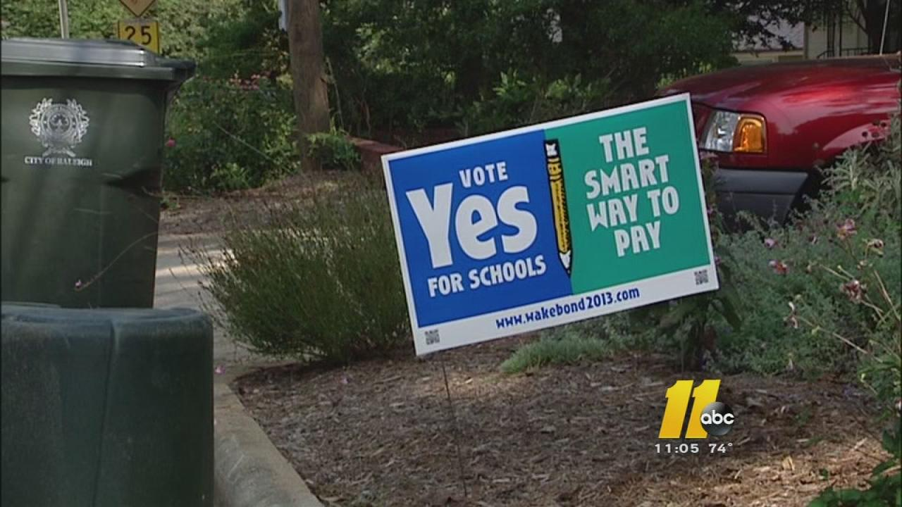 Wake County voters decide school bond issue Tuesday