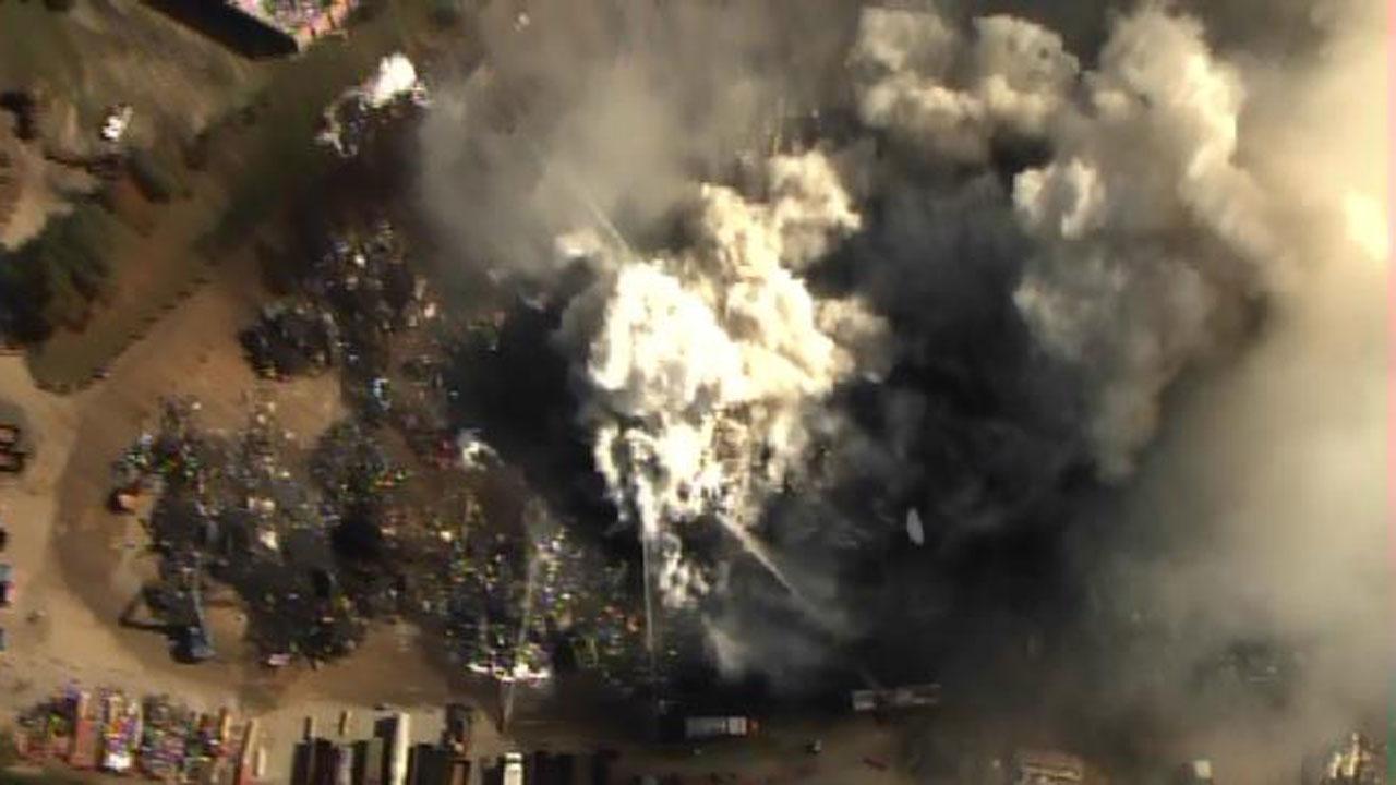 Fire engulfs Greensboro recycling facility