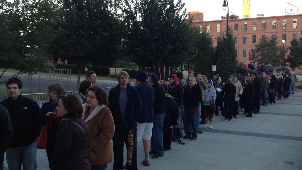 This was the line at the DPAC just before Book of Mormon tickets went on sale.