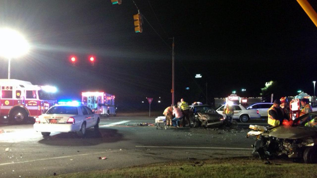 Johnston County multi car crash injures three people