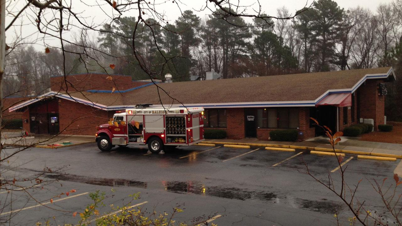 Fire crews were called to Fitzgeralds Seafood on E. Millbrook Road at Atlantic Aveune in Raleigh Monday morning.