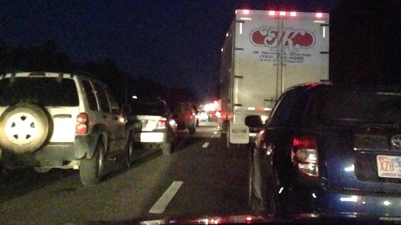 I-85 crash back up near Butner.