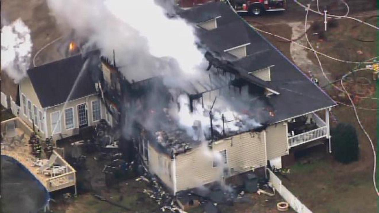 House fire on Shepard School Road in Zebulon.