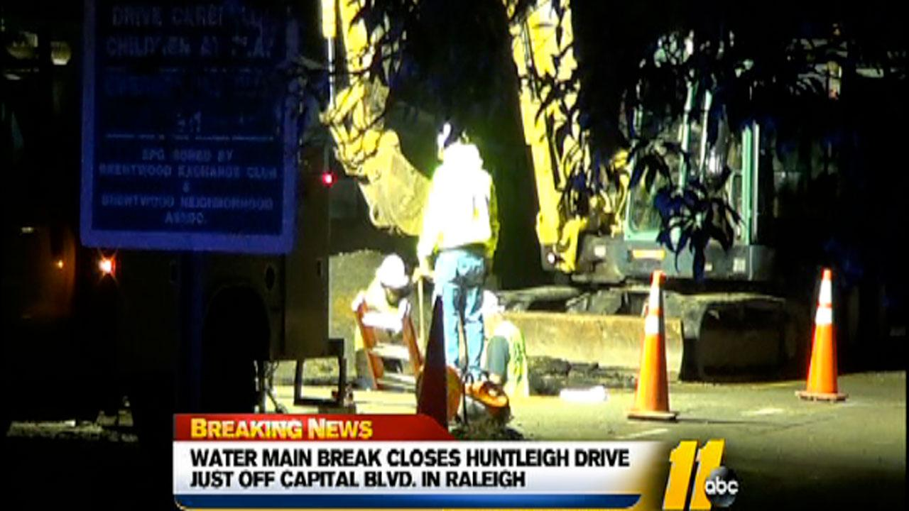 Huntleigh Drive off Capital Boulevard closed in both directions Monday morning