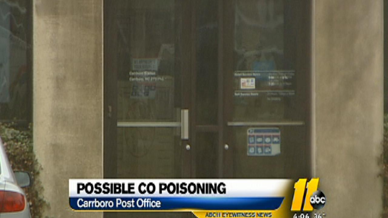 Carrboro Post Office CO scare