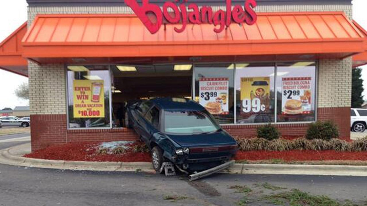 Car into Hope Mills Bojangles