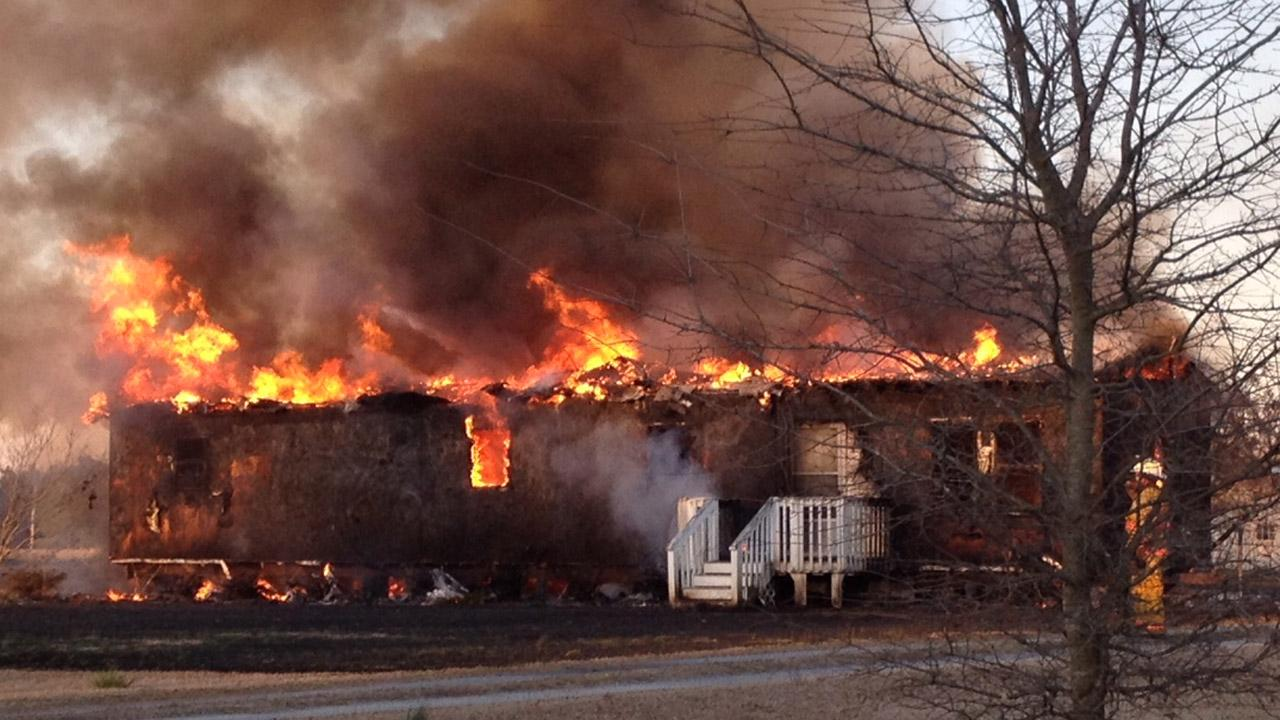 A home in Four Oaks was destroyed by fire.