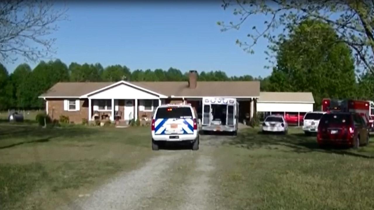 Farming accident scene in Johnston County