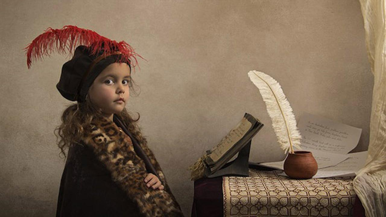 Photographer and his 6-year-old daughter recreate classic paintings