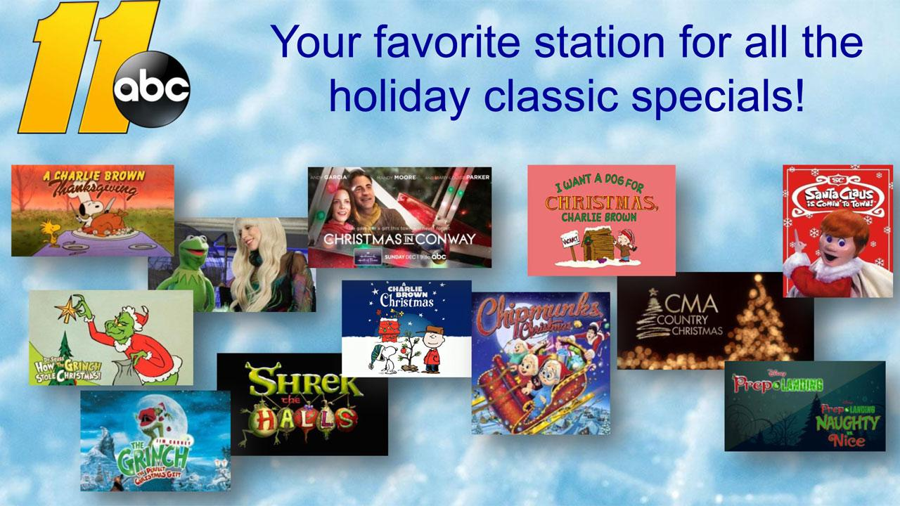 Catch your favorite holiday specials on ABC11