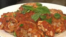 Garam Masala Chicken over Fettuccine