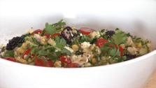 Fresh Corn Feta Quinoa Salad