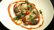 Singaporean Pepper Shrimp with Green Papaya Salad and Thai Ketchup