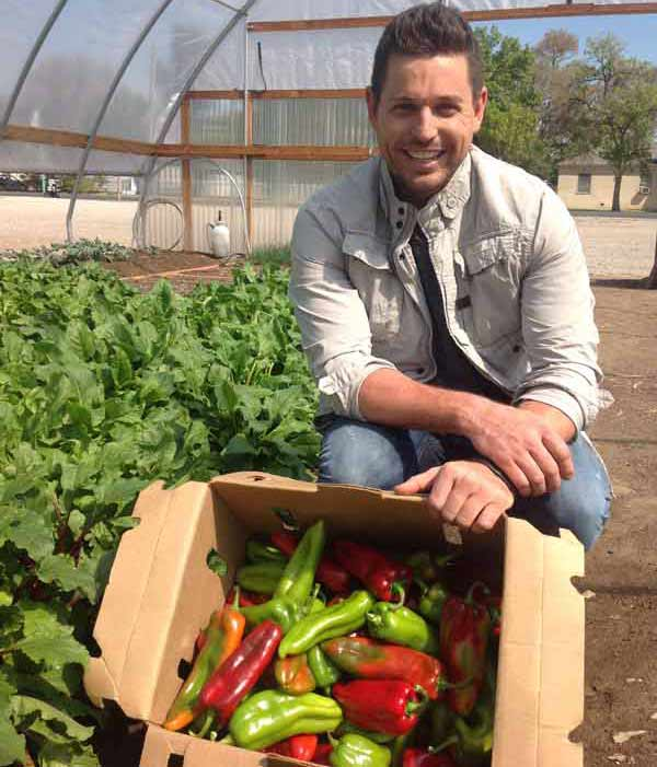 Ryan checks out fresh produce in Fallon, Nevada