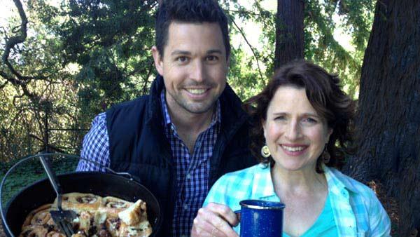 Sunset Magazine's Elaine Johnson and Chef Ryan...