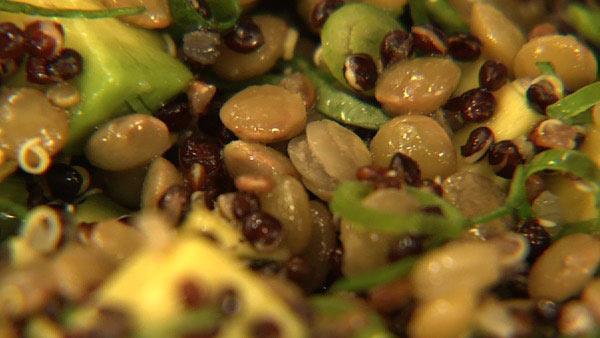Quinoa, Lentils and Avocado
