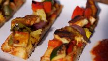 Curry Chic Paneer Masala Veggie and Pineapple Pizza