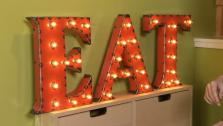 Decorating with Vintage Signs