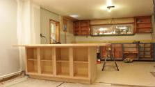 Franco and Stacy have always wanted an island in their kitchen, but having one made can cost thousands. Carpenter Mark Bartelomeo shows Franco how to create a DIY island out of standard kitchen cabinets.