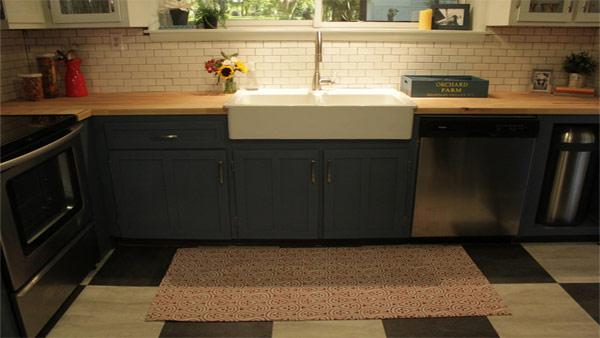 DIY Custom Kitchen Floor Mat